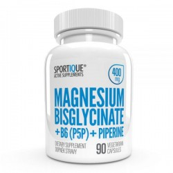 MAGNESIUM BISGLYCINATE + B6 + PIPERÍN 400 mg