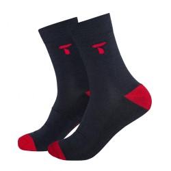 Ponožky Tufte Bambull Blend Blueberry/High Risk Red