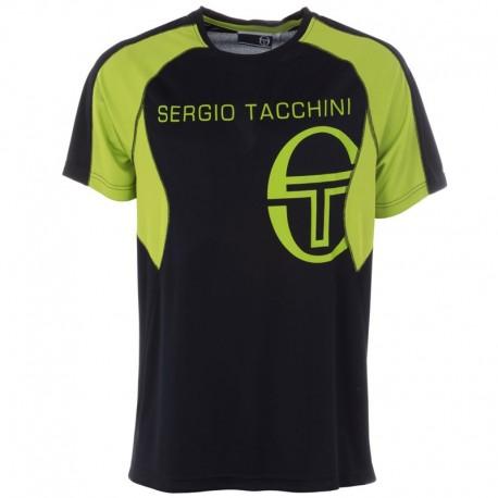 Tričko Sergio Tacchini Austin Poly - čierne