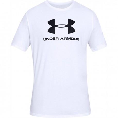 Pánske tričko s krátkym rukávom SPORTSTYLE LOGO SS-WHT