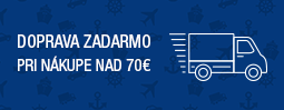 Poštovné zdarma pri nákupe nad 70€